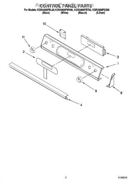 parts  kitchenaid kgrapss control panel parts