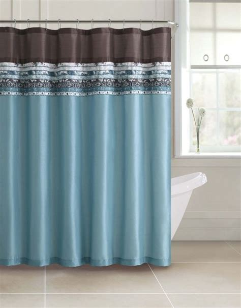 Shower Curtain For Blue Bathroom Blue And Brown Shower Curtain Sets Curtain Menzilperde Net