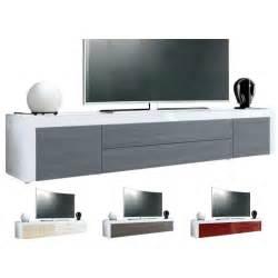 meuble tv design laqu 233 blanc 200 cm topaze cbc meubles