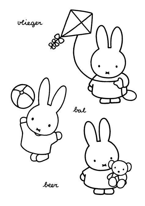 Coloring Page Miffy Coloring Pages 12 Miffy Coloring Pages