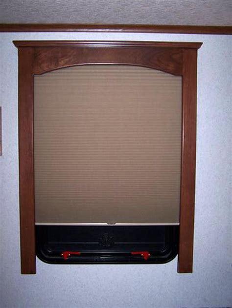 rv window treatments  fine finished wood window