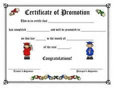 certificate of promotion template certificate of promotion pre k 2nd grade printables