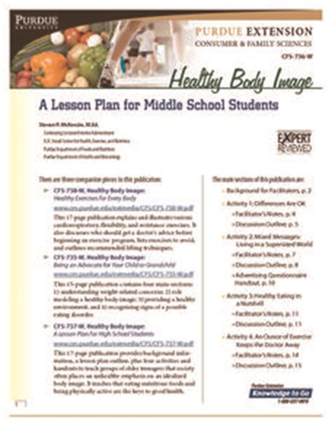 body biography lesson plan healthy body image a lesson plan for middle school