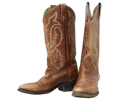 cowboy boots eighties vintage shoes 80s mens brown classic