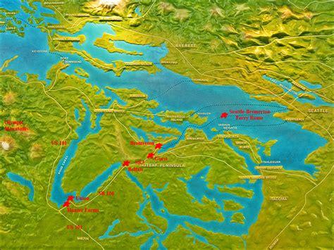 washington state ferries map washington state ferry routes map to farms