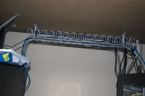 cable rack for desk my solution for cable clutter organization 187 forum post by