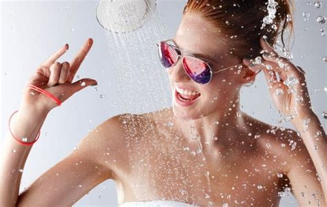 Singing Shower by The Moxie Showerhead Wireless Speaker Because We All