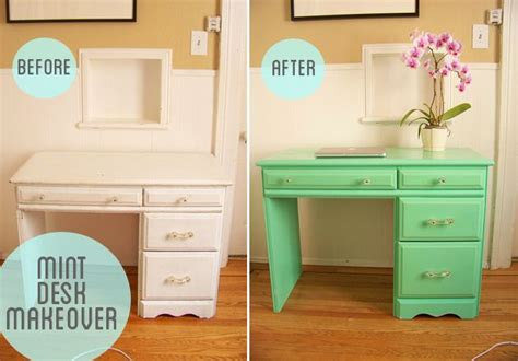 Repainting A Desk by Painted Furniture Before And After Yikes Restoration