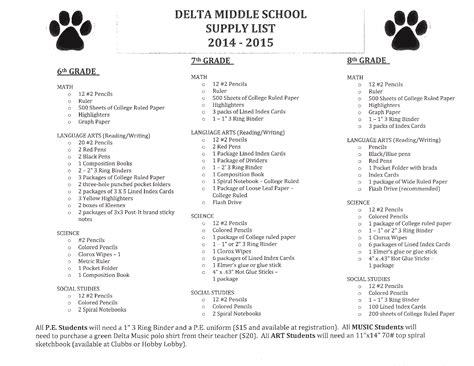 middle school supplies 19 cool address of school supplies colorado dototday com
