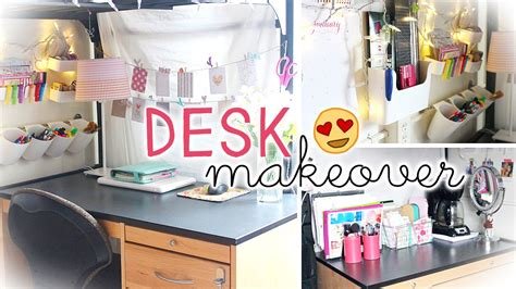 how to decorate a desk desk makeover hacks dorm wall storage decor youtube