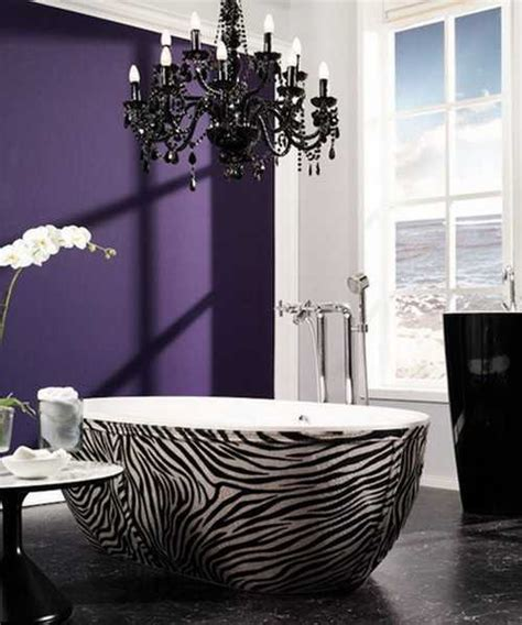 zebra prints and decorative patterns for modern bathroom decorating