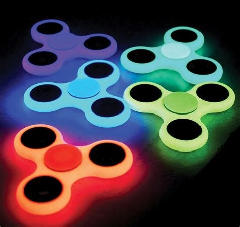 Fidget Spinner Glow In The New Spiner Glow fidget spinner glow in the assorted colors