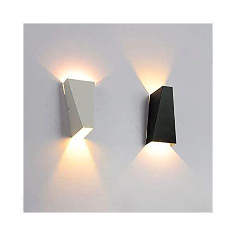 apliques de pared led aplique pared led 10w blanco negro