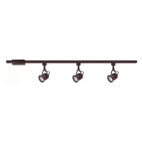 Home Depot Track Lights by Hton Bay 3 Light Antique Bronze Linear Track Lighting