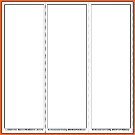 free printable bookmark templates free bookmark templates bid exle
