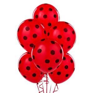 Ladybug Home Decor Red With Black Polka Dots Latex Balloons 6