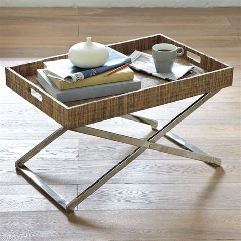 butler tray coffee table low butler tray stand west elm