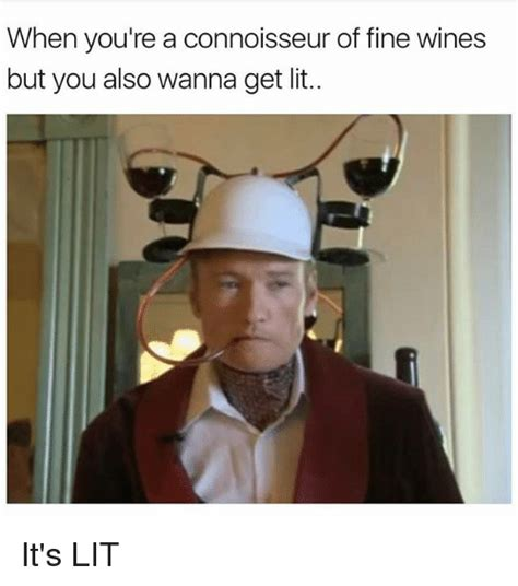 Lit Meme - when you re a connoisseur of fine wines but you also wanna