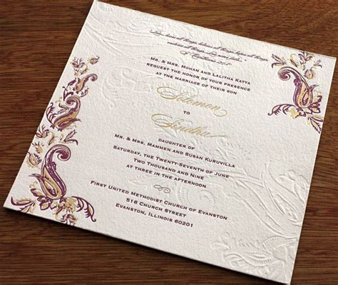 indian wedding invitation printers indian mehndi letterpress wedding invitation gallery