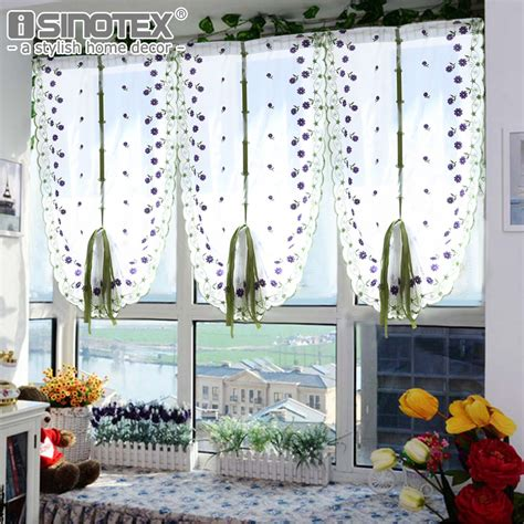 Curtains For Palladian Windows Decor Tulle Voile Curtains Embroidery Flower Window Curtain Living Room Decoration Rideaux Pour