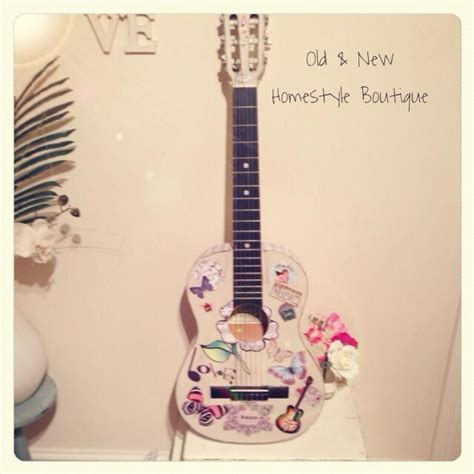 chalk paint guitar 17 best images about diy decoupage projects and ideas on