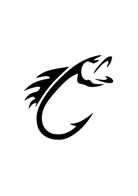 Fish Hook Svg For Cricut Or Silhoutte Fishing Hook