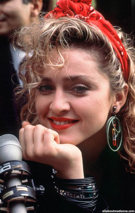 80s hair styles with scarves material girl