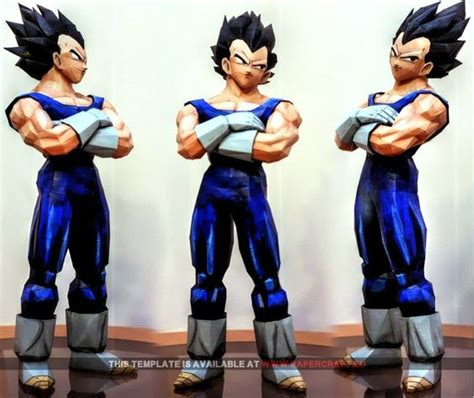 Vegeta Papercraft - vegeta papercraft eu paper craft