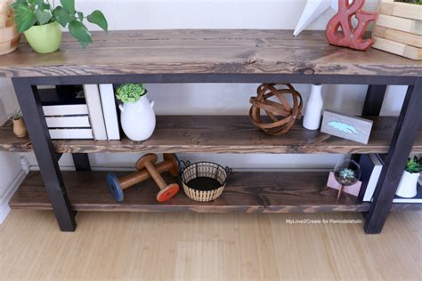 make your own sofa table remodelaholic pottery barn inspired modern rustic
