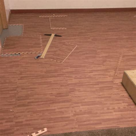 Rubber Floor Tiles Basement by Premium Soft Wood Tiles Interlocking Foam Mats