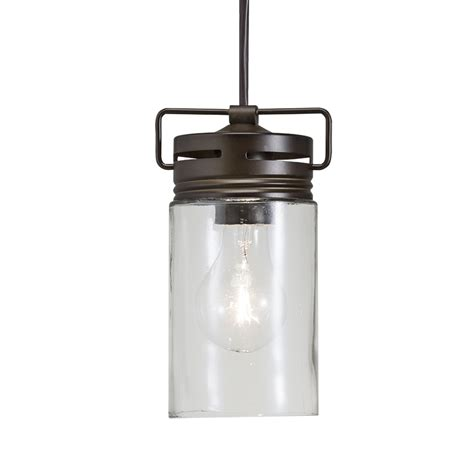 Shop Allen Roth Vallymede 4 41 In Aged Bronze Barn Mini Mini Clear Lights