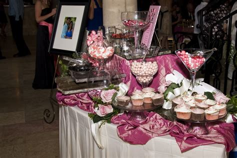 Our Favors The Pink Black White Candycupcake Buffet Pink And Black Buffet