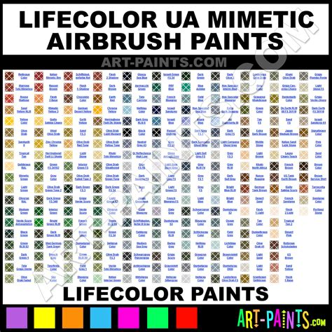lifecolor ua mimetic airbrush spray paint colors lifecolor ua mimetic spray paint colors ua