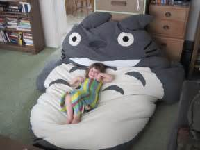 comfortable bed and sleeping bag totoro home reviews