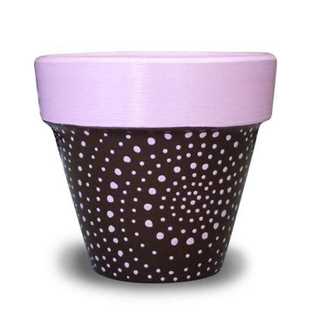 Pink Planter Pots by Pink And Brown Flower Pot 4 Inch Pot