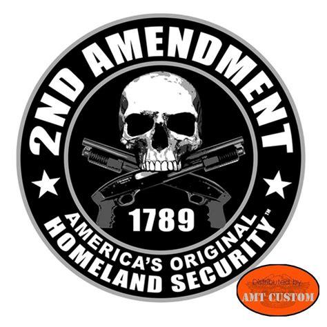 Sticker Casque Biker by Sticker Casque Moto Skull 2nd Amendment Amt Custom Shop