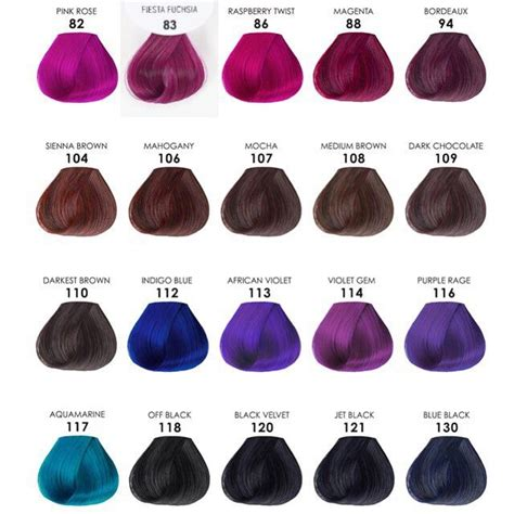 adore color chart best 25 hair color swatches ideas on