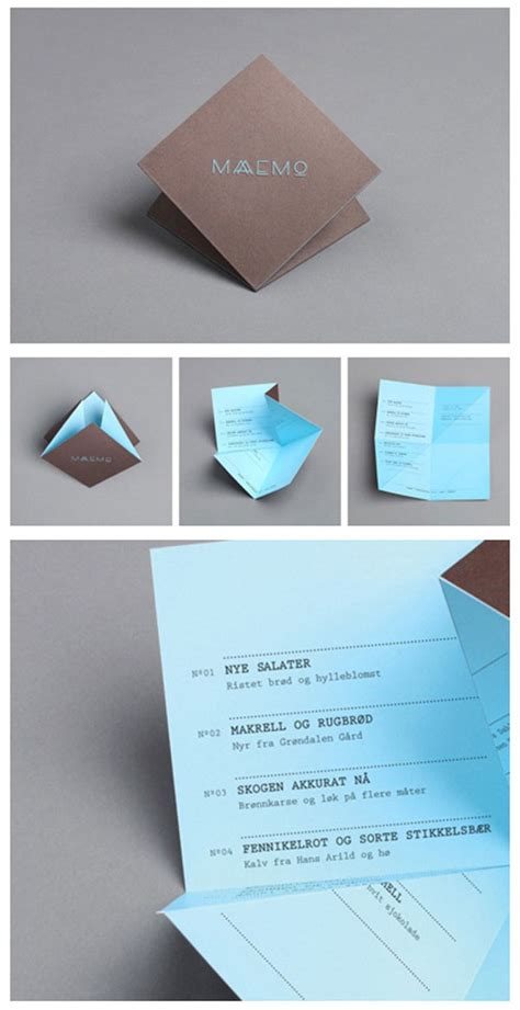 Origami Restaurant Menu - 45 remarkable food drink menu designs web graphic