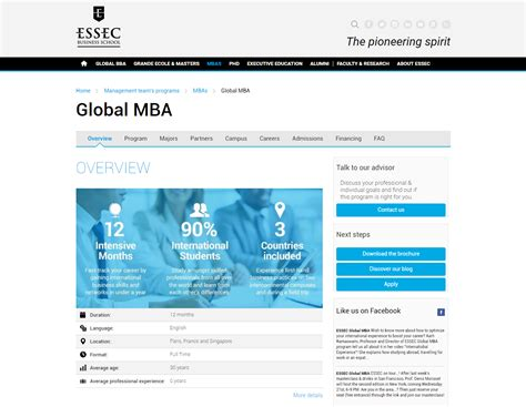 Global Mba Programs 2016 by Essec Business School Renews Its Global Mba Program To