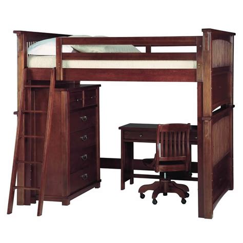 size desk bed size loft beds for adults with desk