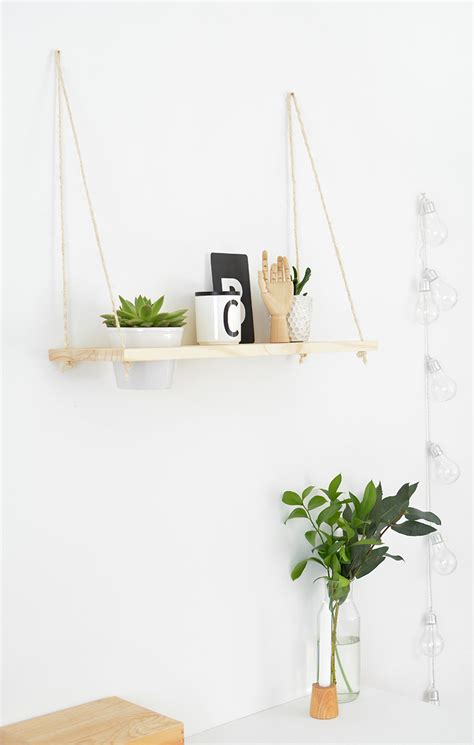 diy hanging plant shelf burkatron