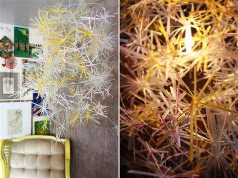 kronleuchter bunt plastik plastik kunst und wohnaccessoires aus strohhalmen