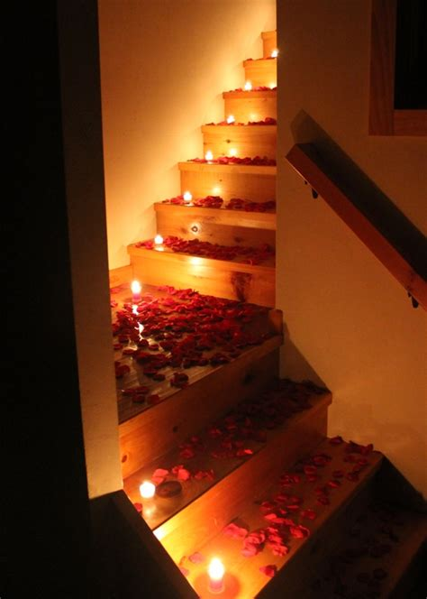 romantic candle light bedroom romance petal garden blog