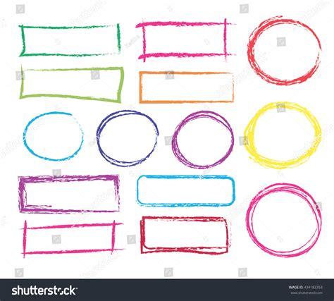 vector pencil design elements set hand drawn colorful frames vector stock vector