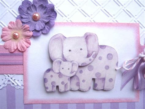 Purple Elephant Baby Shower Decorations by New Baby Or Baby Shower Card Purple Elephants Can Be