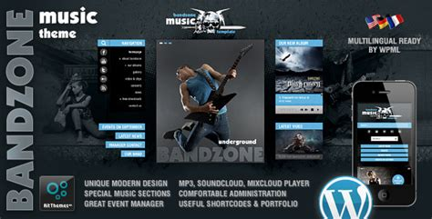 bandzone wordpress theme made by musicians the best