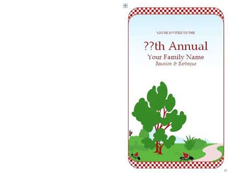 Family Reunion Invitations Microsoft Word Templates Family Reunion Invitation Templates Free