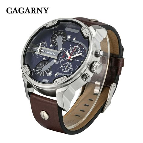 Digitec Army Dualtime Original luxury s watches quartz fashion wristwatches leather watchband date dual time