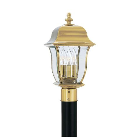 polished brass outdoor post lights bel air lighting atrium 3 light outdoor black l post