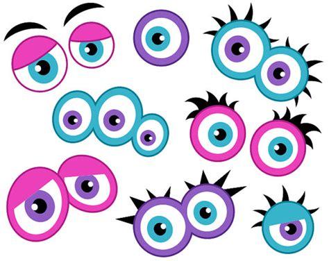 free printable monster eyes and mouth monstruo femenino ojos digital clip art ojos lindo monstruo